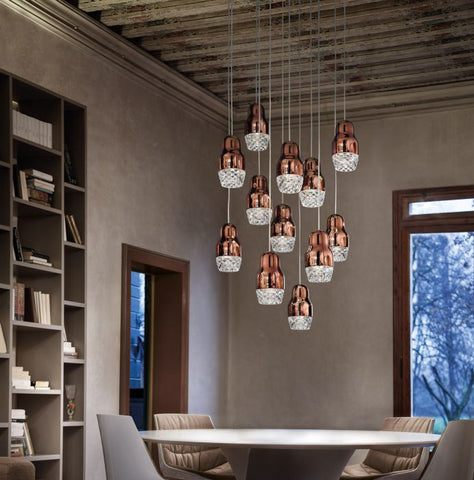 Axo Light Fedora bronze, rose gold or chrome SP12 ceiling light