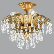 Beautiful Gold Ceiling Light with Hanging Swarovski Elements