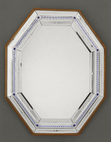 Hand-crafted Venetian Mirror with lacquered wooden frame