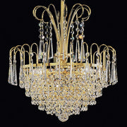 Crystal Glass Basket Style Chandelier