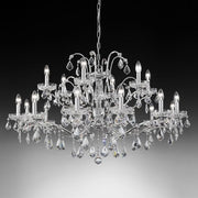 18 light lead crystal gold-plated Italian chandelier