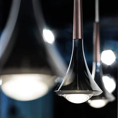 Single black Rain pendant light from Studio Italia Design