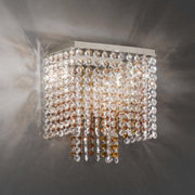 Square Crystal Wall Light