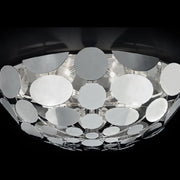 Chrome or gold half-sphere ceiling light