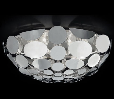 50 cm chrome or gold half-sphere ceiling light