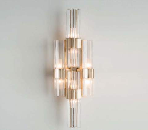 Modern high-end wall light with polished gold finish
