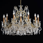 12 Light Gold Chandelier with Bohemian Crystals