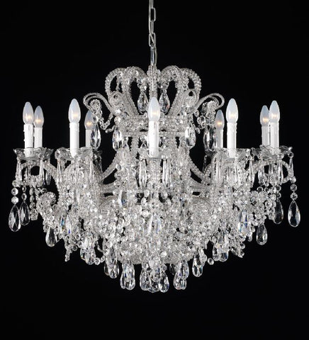 10 Light Bohemian Crystal Glass Chandelier