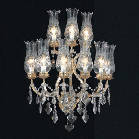 Maria Theresa 9 light Swarovski Strass crystal wall chandelier