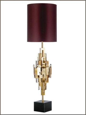 Boutique-style metal table lamp with shade