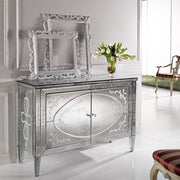 Exquisite 18th century-style Venetian mirrored sideboard