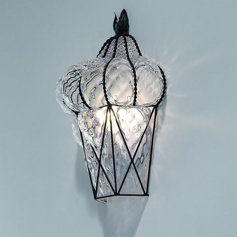 Murano crystal glass wall light with baloton finish