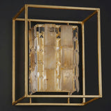 Modern industrial wall light with rock crystal