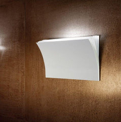 Polia G basalt grey, textured white and rust brown wall light from Axo Light