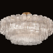 Murano glass mid century tronchi flush ceiling light