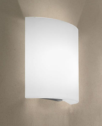 Contemporary White Glass Wall Light