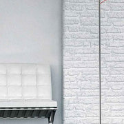 Shaker red or white glass floor lamp from Leucos