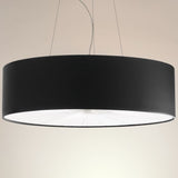 Skin 70 cm faux leather pendant light in 10 colours