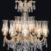 Maria Theresa crystal chandelier with 15, 18 or 24 lights