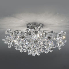 Asfour crystal ceiling light with flowers