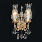 Maria Theresa 2 light Scholer Austrian crystal wall chandelier