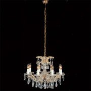 Small gold-plated Maria Theresa chandelier with Strass crystals