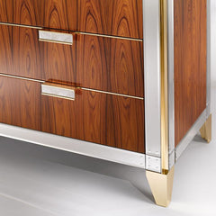 Rosewood sideboard with Venetian mirrored glass detail