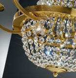 Gold-plated basket-style flush ceiling light