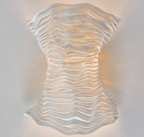 Corset-shaped wall light in 5 lovely fabric colours