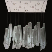 100 cm mid-century-style Murano glass shard cluster light