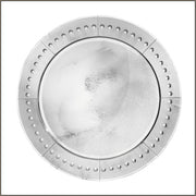 Stunning round deco-style Venetian wall mirror with silver frame