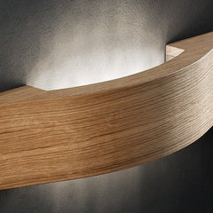 Pale wood wall light with Asfour crystal lozenges