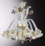 Murano glass crystal chandelier with flowers