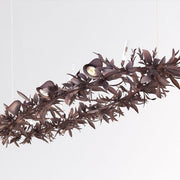 150 cm brown metal rustic leaf chandelier