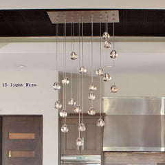 Mizu lead crystal pendant light in 7 sizes from Terzani