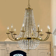 Empire chandelier with Austrian crystals & gold frame