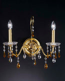 Gold and Topaz Crystal Wall Light