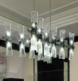 Modern mid-century Murano glass dining-room chandelier