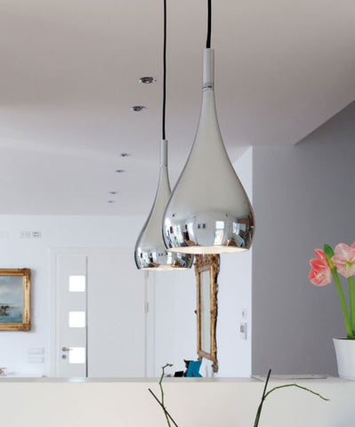 Bijou A05 15 chrome pendant from Fabbian