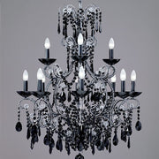 12 Light Bespoke Black Crystal Chandelier