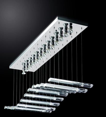Piano Style Crystal Glass Ceiling Pendant