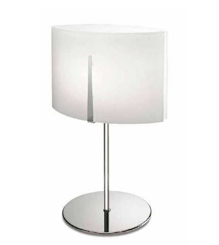 Tall opal white glass table lamp