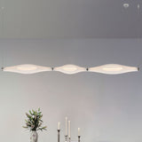 Modular white Murano incamiciato glass hanging light