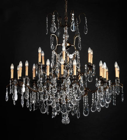 Luxury metal chandelier with Bohemian crystals