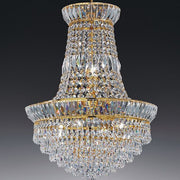 Small classic 24% lead crystal empire chandelier