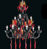 Black and red Rezzonico chandelier