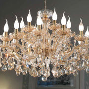 Topaz Crystal Glass Chandelier