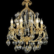 Gilded apple and flower chandelier