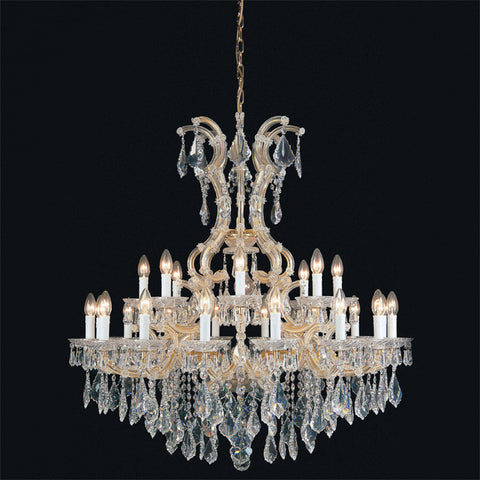 Gold or chrome Maria Theresa chandelier in 5 sizes