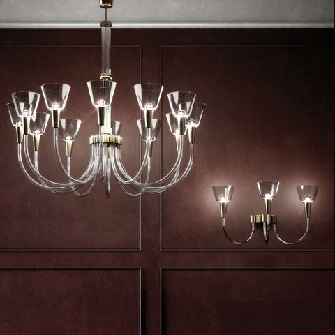 Soffiati art deco chandelier by Carlo Scarpa for Venini